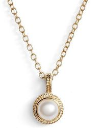 Anna Beck - Semiprecious Stone Round Drop Pendant Necklace - Lyst
