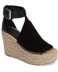 Marc Fisher - Annie Perforated Espadrille Platform Wedge - Lyst