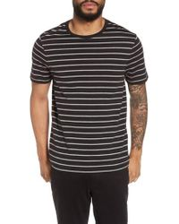 Vince - Slim Fit Heathered Stripe T-shirt - Lyst