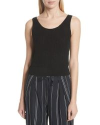 Vince - Crossover Back Tank Sweater - Lyst