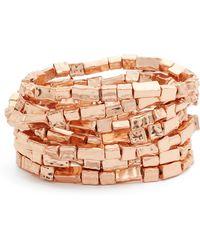 Karine Sultan - Bracelets (set Of 7) - Lyst