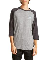 Brixton | Garth Baseball T-shirt | Lyst
