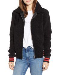 n:PHILANTHROPY - Gray Faux Fur Track Jacket - Lyst