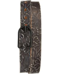 Cause & Effect - Dogwood Tooled Leather Belt - Lyst