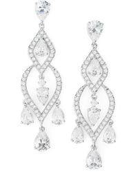 Nadri \'legacy\' Crystal Chandelier Earrings in Metallic | Lyst