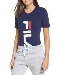 Fila - Quinn Logo Bodysuit - Lyst