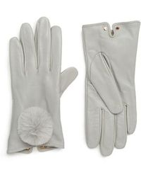 Ted Baker - Pom Leather Touchscreen Gloves - Lyst