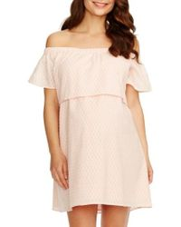 Rosie Pope - 'camille' Off The Shoulder Maternity Dress - Lyst