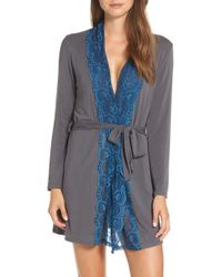 Samantha Chang - Lace Trim Robe - Lyst