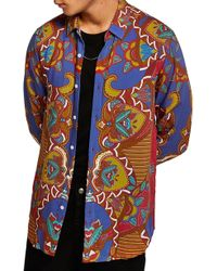 TOPMAN - African Baroque Classic Fit Shirt - Lyst