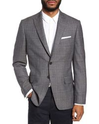 Moods Of Norway - Gryning Trim Fit Plaid Wool Blend Sport Coat - Lyst