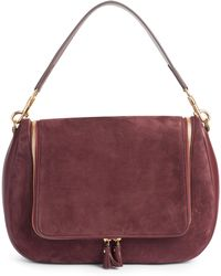 Anya Hindmarch - Vere Maxi Leather & Suede Satchel - Burgundy - Lyst