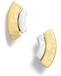 Madewell - Crescent Layer Stud Earrings - Lyst