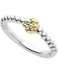 Lagos - Caviar Icon Stacking Ring - Lyst