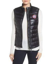 Canada Goose - 'hybridge Lite' Slim Fit Packable Down Vest, Black - Lyst