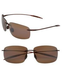 Maui Jim   Breakwall 63mm Polarizedplus2 Rimless Sunglasses - Root Beer   Lyst