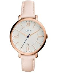 Fossil - 'jacqueline' Leather Strap Watch - Lyst