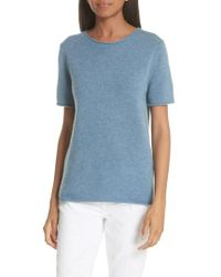 Theory - Tolleree Short Sleeve Cashmere Sweater - Lyst