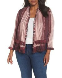 NIC+ZOE - City Of Dreams Fringe Jacket - Lyst