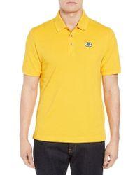 Cutter & Buck - Green Bay Packers - Advantage Regular Fit Drytec Polo, Yellow - Lyst