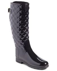 HUNTER - Original Refined High Gloss Quilted Rain Boot - Lyst