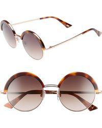 Web - 51mm Round Sunglasses - Dark Havana/ Gradient Brown - Lyst