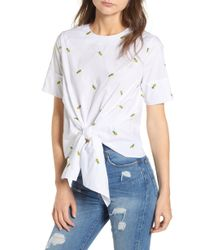 BISHOP AND YOUNG - Bishop + Young Front Tie Pineapple Top - Lyst