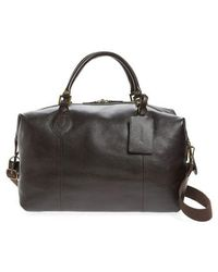Barbour - Leather Travel Bag - - Lyst