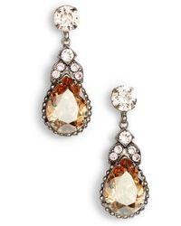 Sorrelli - Nigella Crystal Drop Earrings - Lyst