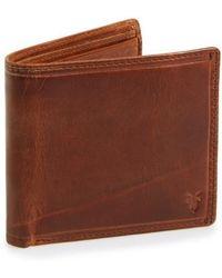 Frye - 'logan' Leather Billfold Wallet - (online Only) - Lyst