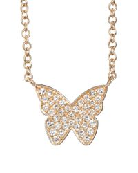 EF Collection - Diamond Butterfly Pendant Necklace - Lyst
