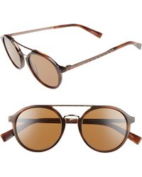 Ermenegildo Zegna - Retro 50mm Sunglasses - Havana/ Light Bronze/ Brown - Lyst