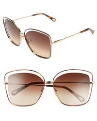 Chloé - 60mm Halo Frame Sunglasses - - Lyst