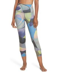 Zella - Katya High Waist Abstract Print Recycled Crop Leggings - Lyst