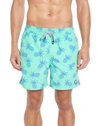 Tom & Teddy - Pineapple Print Swim Trunks - Lyst
