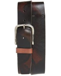 John Varvatos | John Varvatos Star Usa Marble Stained Leather Belt | Lyst