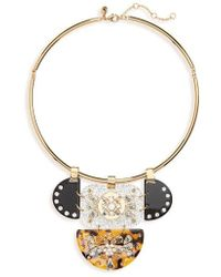 J.Crew - Crystal & Lucite Collar Necklace - Lyst