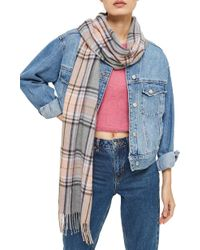 TOPSHOP - Check Scarf - Lyst