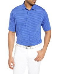 45cd4870 Lyst - Bobby Jones Xh2o Feed Stripe Stretch Golf Polo in Red for Men