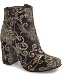 Naughty Monkey - Sequin Embellished Bootie - Lyst