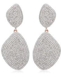 Monica Vinader - Nura Double Teardrop Earrings With Diamonds - Lyst