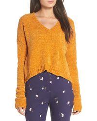 Make + Model - Crop Chenille Sweater - Lyst