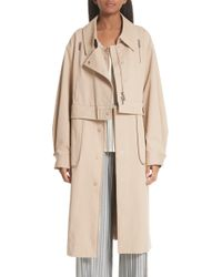 Jason Wu - Sailor Stretch Twill Convertible Trench Coat - Lyst