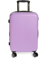 Nordstrom - Chevron 18-inch Spinner Carry-on - Purple - Lyst
