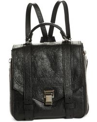 Proenza Schouler - Ps1 Leather Convertible Backpack - - Lyst