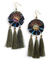 Nakamol - Tassel Statement Earrings - Lyst