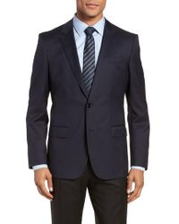 BOSS - Hayes Cyl Trim Fit Solid Wool Sport Coat - Lyst