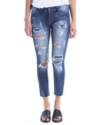 Kut From The Kloth - Reese Distressed Ripped Raw Hem Jeans - Lyst