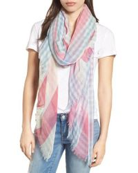 Nordstrom - Yarn Dyed Stripe Wrap - Lyst