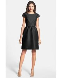 Alfred Sung - Woven Fit & Flare Dress - Lyst